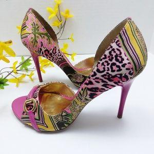 Carlos Santana Peep Toes Heels. Size 7.5